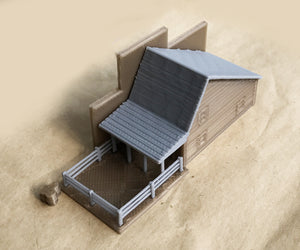 Old West Livery Stable N Scale 1:160 Outland Models Train Railway Layout
