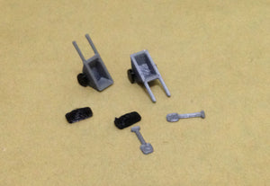 Road Construction Accessories Set HO OO Scale 1:87 Outland Models Railroad
