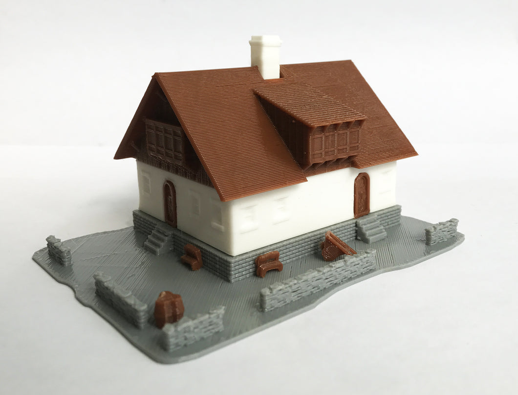 Alpine Mountain Style Farm House N Scale 1:160 Outland Models Train Layout