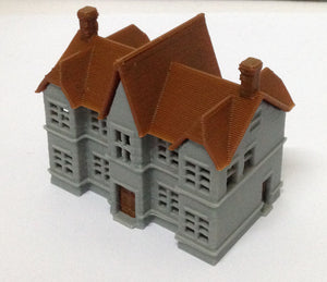 Victorian City Building School N Scale Outland Models Train Railway Layout