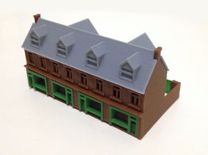 Victorian City Building Shop Row N Scale Outland Models Train Railway Layout