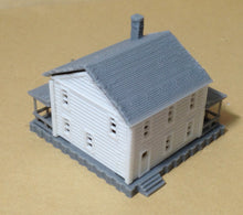Load image into Gallery viewer, Country 2-Story House White N Scale 1:160 Outland Models Train Railway Layout