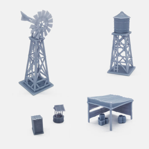 Outland Models Model Railroad Scenery Layout Small Watchtower Set 1:220 Z Scale