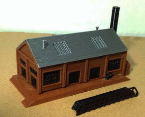 Classic Industrial Factory Z Scale 1:220 Outland Models Train Railway Layout