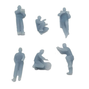 Car Maintenance Crew Figure Set 1:160 N Scale