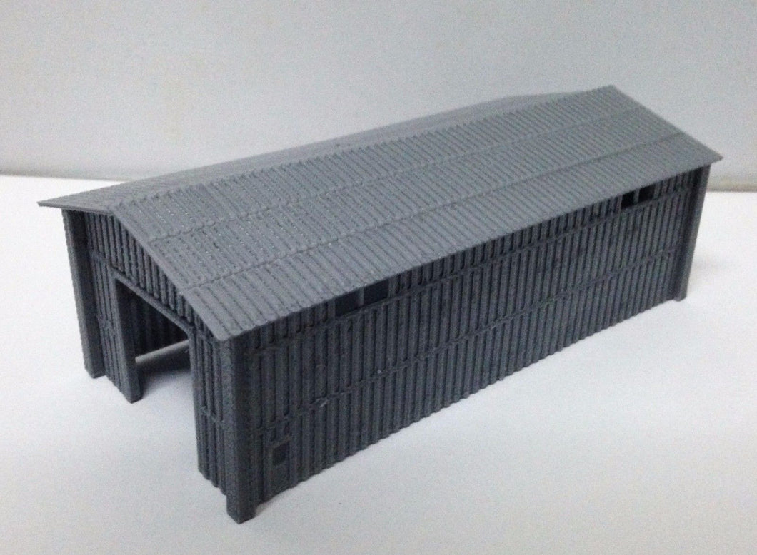 Large Metal Style Shed for Warehouse / Factory N Scale Outland Models Train