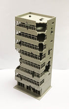 Load image into Gallery viewer, City Ruin Building Abandoned Tall Office N Scale Outland Models Railway Scenery