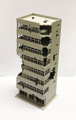 City Ruin Building Abandoned Tall Office N Scale Outland Models Railway Scenery