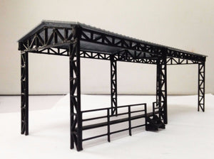 Factory Open Shed for Locomotive HO OO Scale Outland Models Train Railway Layout
