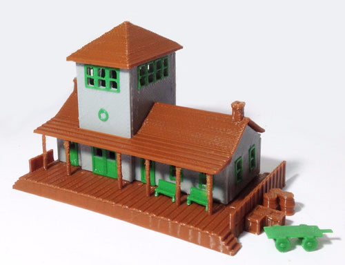 Small Train Station / Depot Z Scale 1:220 Outland Models Train Railway Layout