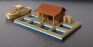 Fishing Village Seawater Ponds Z Scale 1:220 Outland Models Train Railway Layout