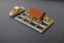 Load image into Gallery viewer, Fishing Village Seawater Ponds N Scale 1:160 Outland Models Train Railway Layout