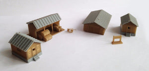 Country Farm House Shed Cottage Set N Scale Outland Models Train Railway Layout
