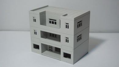 Modern 3-Story Building Office / House N Scale 1:160 Outland Models Railway