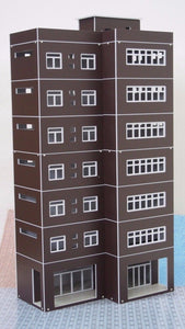 Modern Tall Business Building Office HO OO Scale Outland Models Train Railway