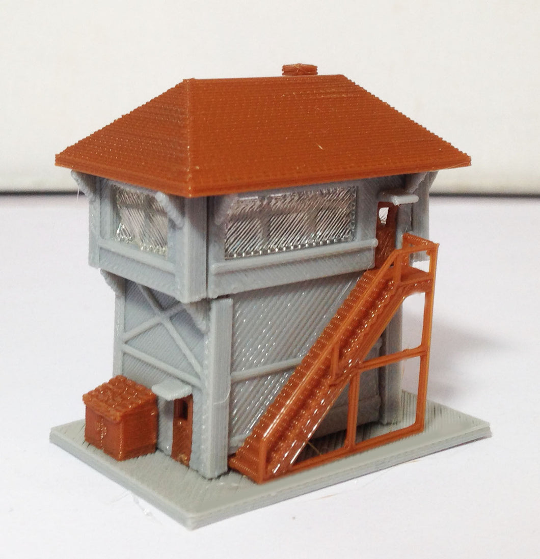 Train Station Signal Box / Tower Z Scale Outland Models Train Railway Layout