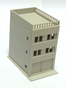 Modern 3-Story House w Garage Unpainted N Scale 1:160 Outland Models Railway