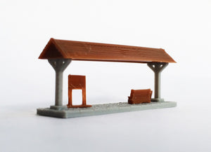 Small Station Passenger Platform x2 Z Scale Outland Models Train Railway Layout