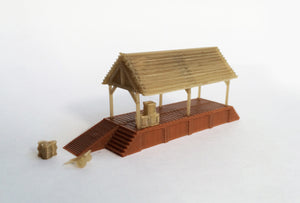 Wood Style Loading Shed / Platform Z Scale Outland Models Train Railway Layout