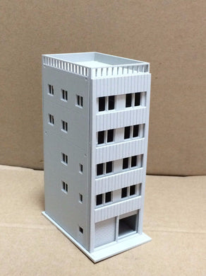 Modern 5-Story Apartment with Garage Unpainted N Scale Outland Models Railway