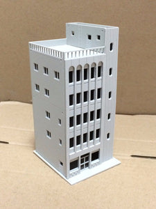 Modern 5-Story Commercial Building Unpainted N Scale Outland Models Railway