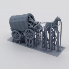 Load image into Gallery viewer, Old West Carriage / Wagon - Caravan 1:87 HO Scale Outland Models Scenery Vehicle