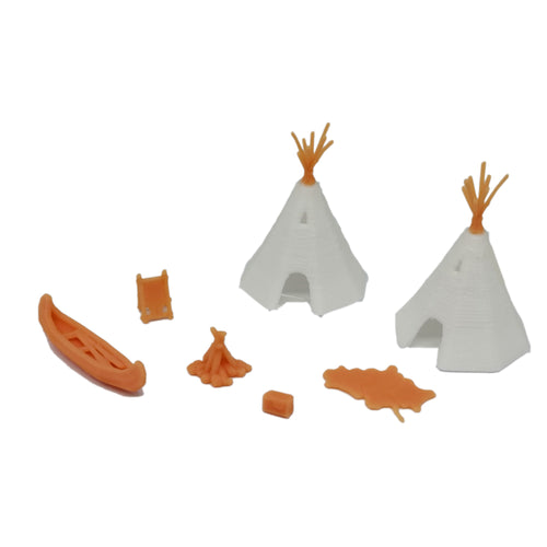 Native American Indian Camp Set 1:72