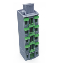 Load image into Gallery viewer, City Apartment (Grey) w Balcony N Scale 1:160