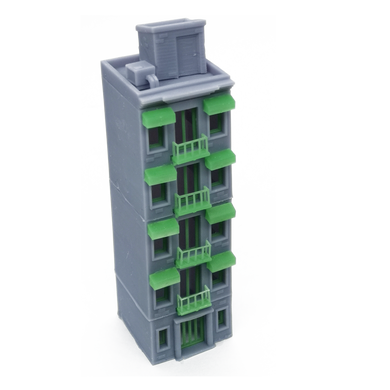 City Apartment (Grey) w Balcony Z Scale 1:220