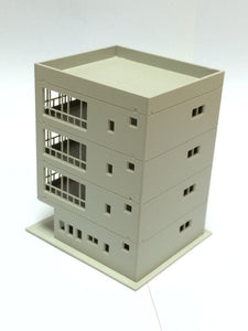 Modern 4-Story Office Building Unpainted N Scale 1:160 Outland Models Railway
