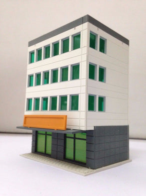 Colored Modern City Building 4-Story Office White N Scale Outland Models Railway