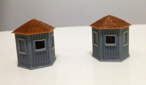 Train Station Stand Alone Ticket Booth x2 HO OO Scale Outland Models Railway