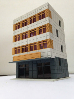 Colored Modern City Building 4-Story Office Grey N Scale Outland Models Railway