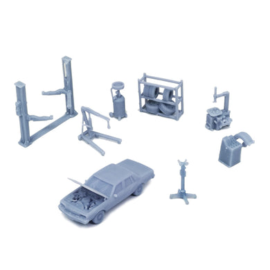 Car Maintenance Accessories Set 1:160 N Scale
