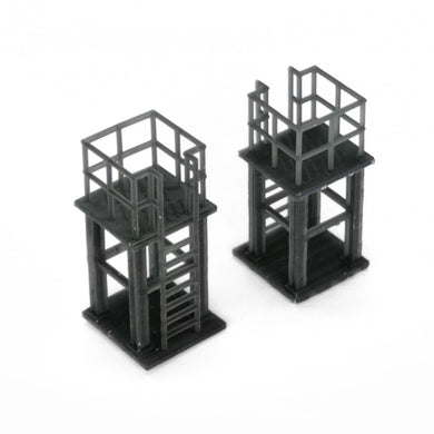 Industrial Platform 2 pcs 1:87 HO Scale Outland Models Railroad Scenery