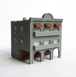 City Classic 3-Story Arcade Building Z Scale 1:220 Outland Models Train Layout