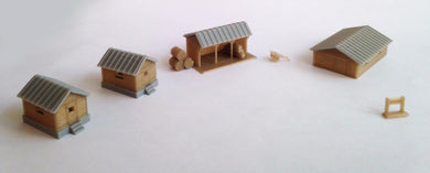 Country Farm House Shed Cottage Set Z Scale Outland Models Train Railway Layout