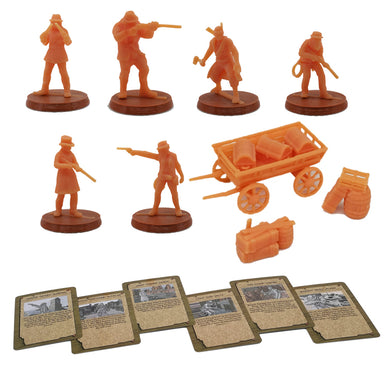 Bloody West Series Cowboy Figure w Cards 28mm Scale