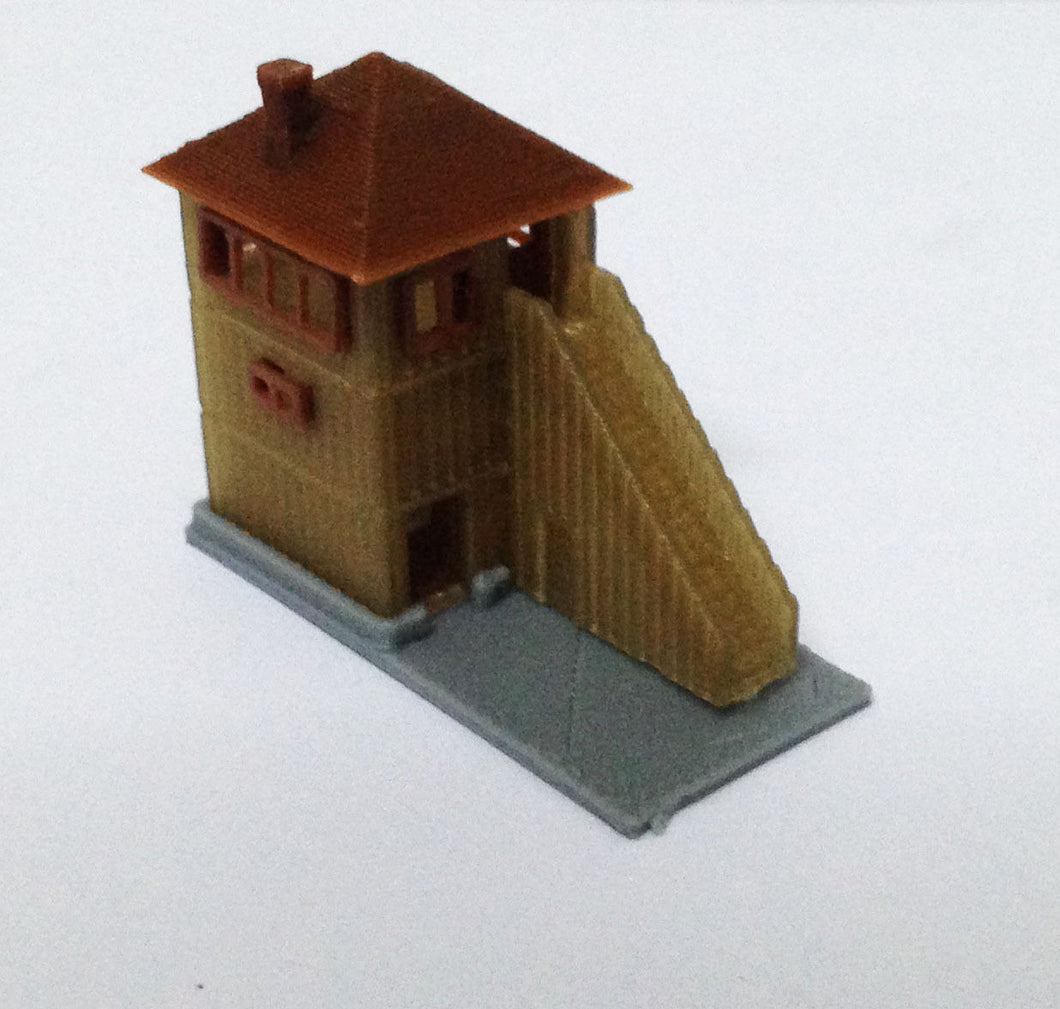 Wood Signal Tower / Watchtower Z Scale Outland Models Train Railway Layout Style