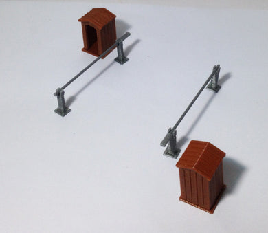 Diorama Guard Post Set x2 HO OO Scale fit 1:72 1:76 Outland Models Train Railway