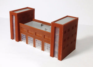 Fire / Police Headquarter with 4-Bay Garage Z Scale Outland Models Train Railway