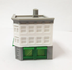 City Classic 3-Story Corner Shop Z Scale Outland Models Train Railway Layout