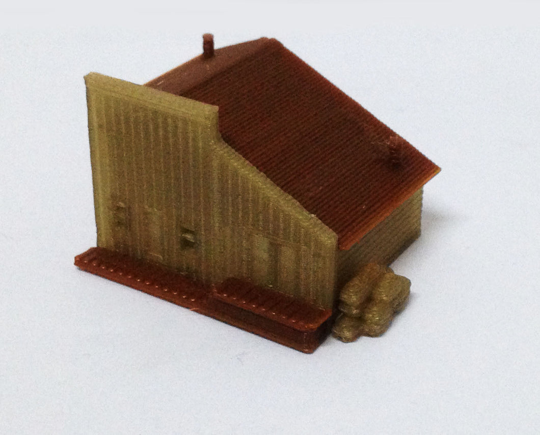 Building Old West Depot / Store Z Scale Outland Models Train Railway Layout
