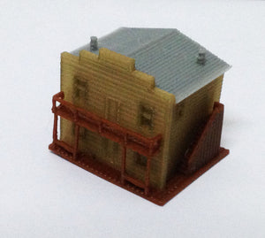 Building Old West Saloon / Shop Z Scale Outland Models Train Railway Layout