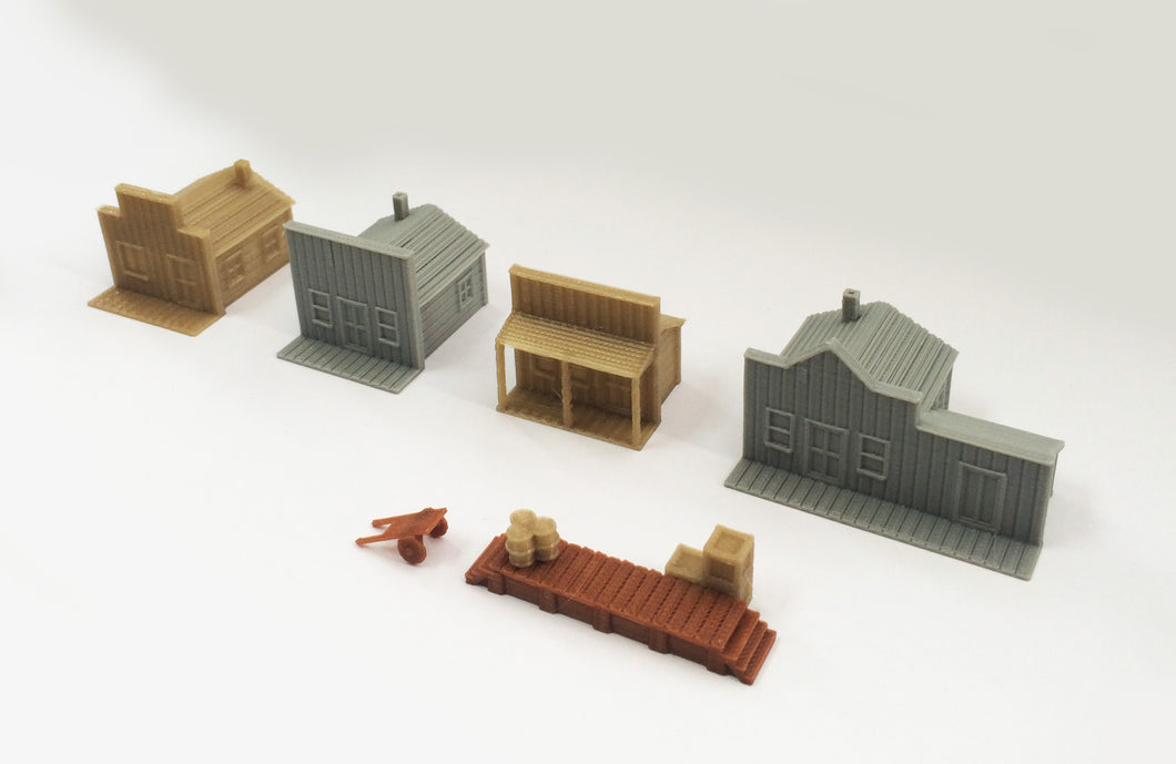 Old West Small House Set Z Scale 1:220 Outland Models Train Railway Layout