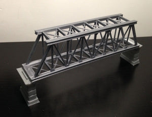 Truss Bridge  with Piers Z Scale Outland Models Train Railroad