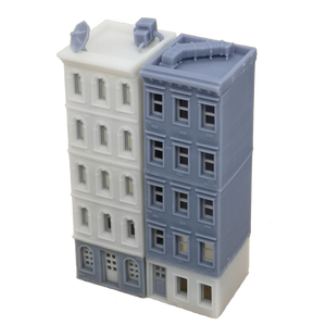 Downtown Apartment Set White Grey N Scale 1:160