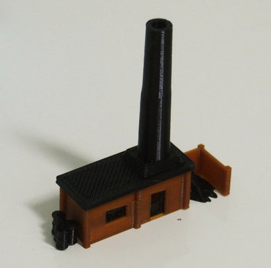 Small Boiler House with Chimney N / Z Scale