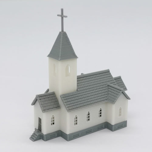 Country Church 1:220 Z Scale Outland Models Railroad Scenery