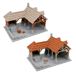War of Tyrant Series Medieval Blacksmith Shop 28mm Scale
